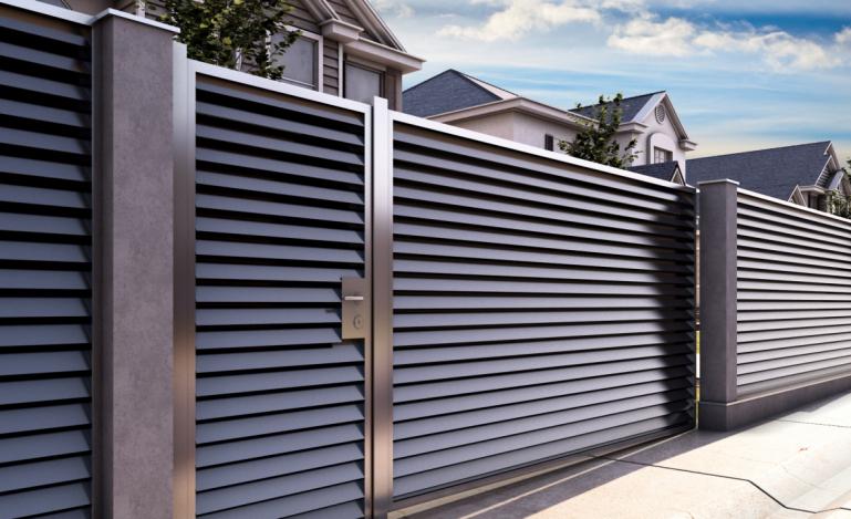 Забор-жалюзи металлический как создать красивое ограждение