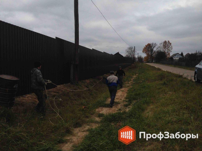 Заборы Из профнастила  - Город Химки. Фото 1