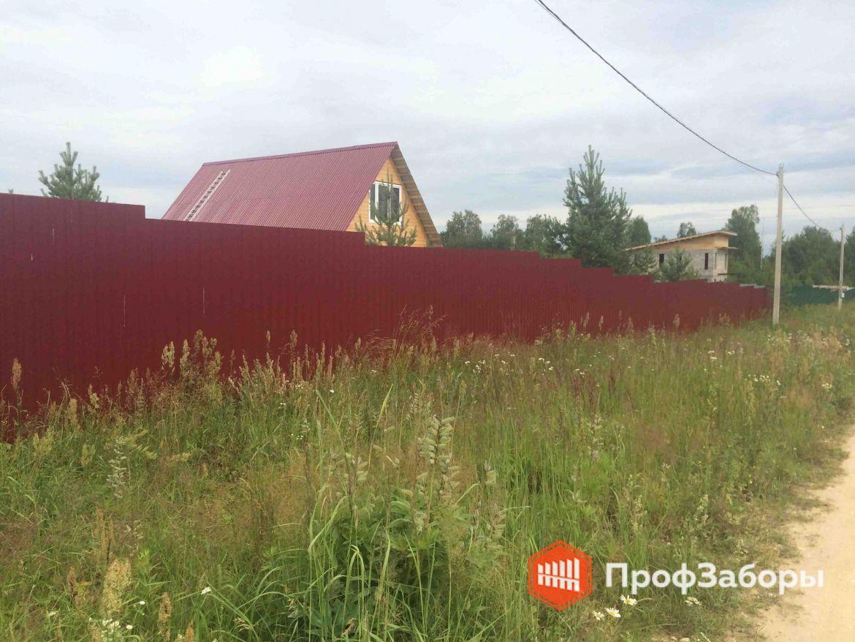 Заборы Из профнастила  - Городской округ Чехов. Фото 1