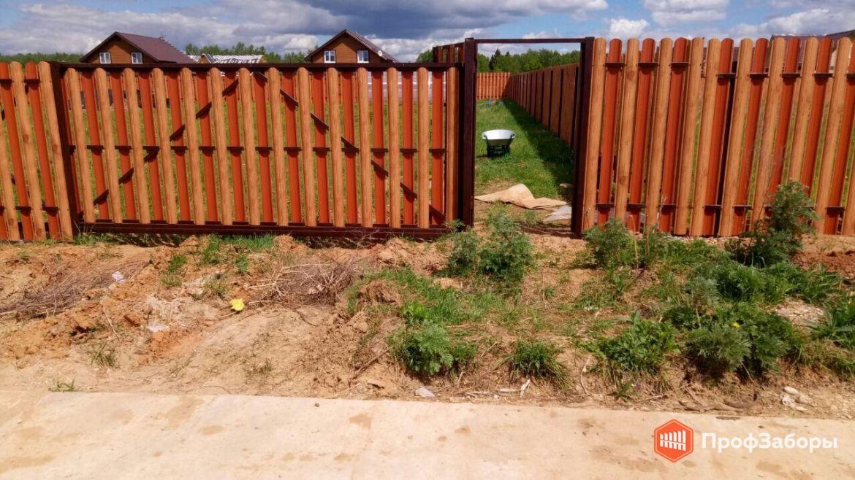 Заборы Из евроштакетника - Ногинский район. Фото 1